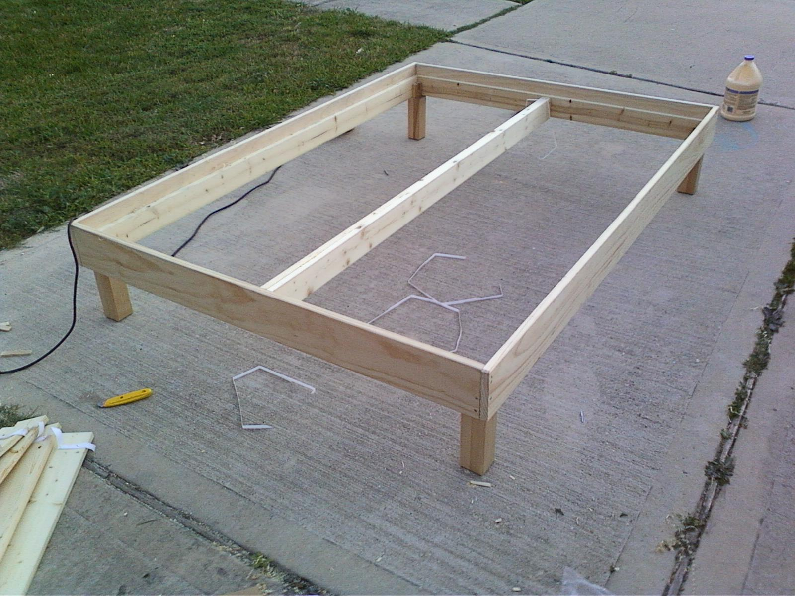 This week in the shop a bed frame woodshopcowboy Simple wood bed frame designs