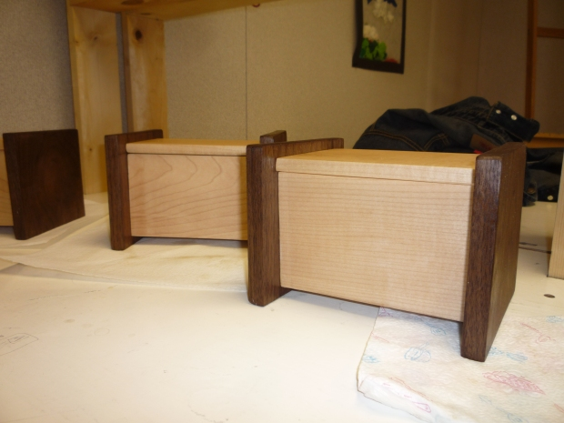 Maple/Walnut Tea Boxes