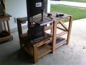 Completed bandsaw/router table.