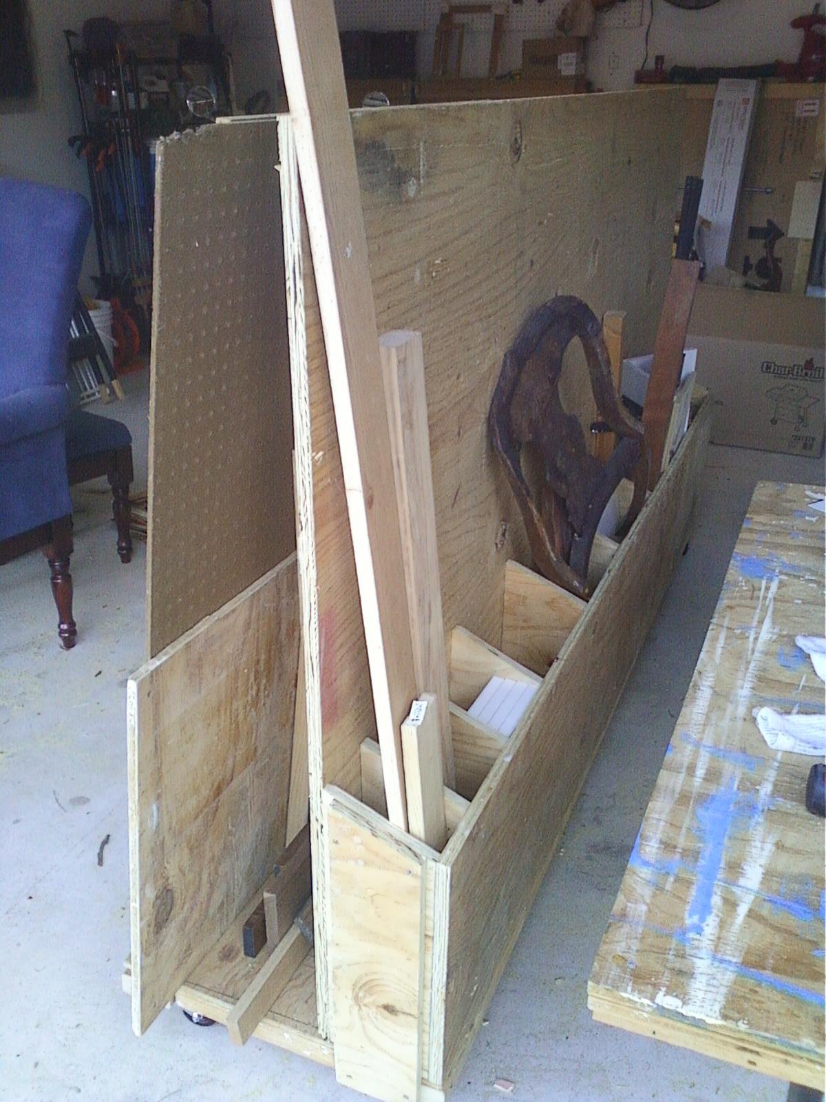 Diy plywood lumber cart plans plans free for Sheet goods cart