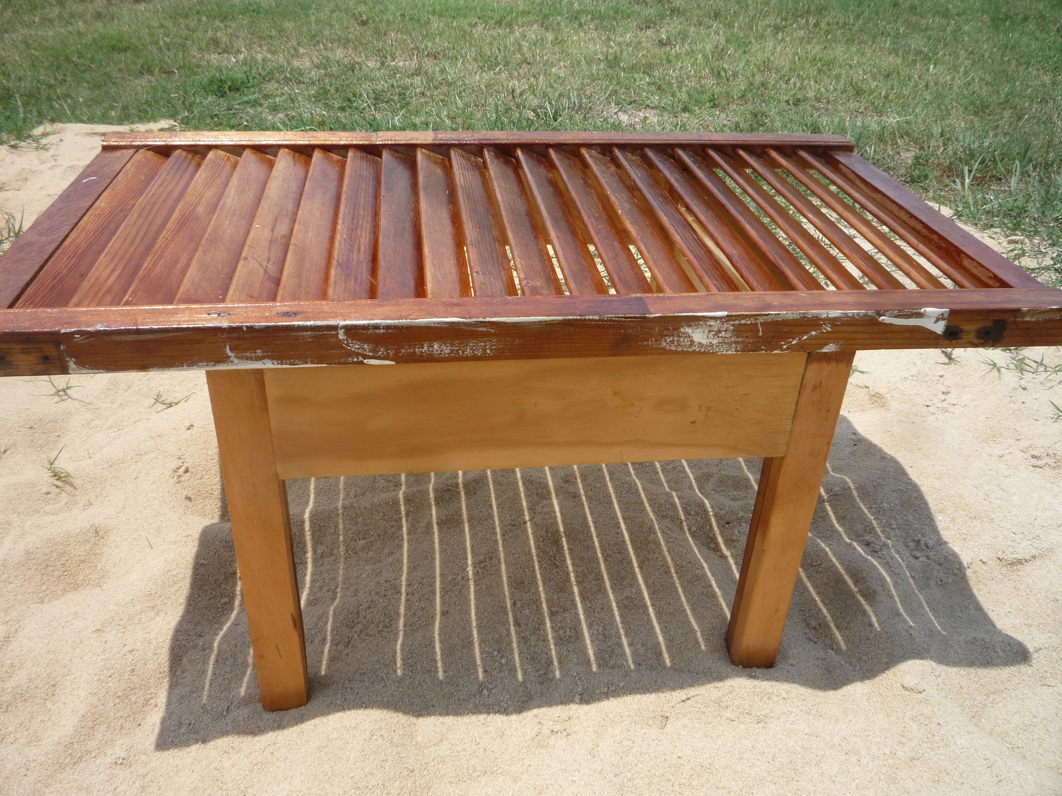 This Week in the Classroom Up Cycled Shutter Coffee Table