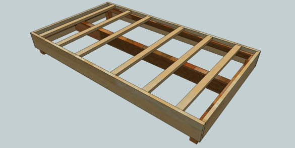 wooden bed frame plans queen