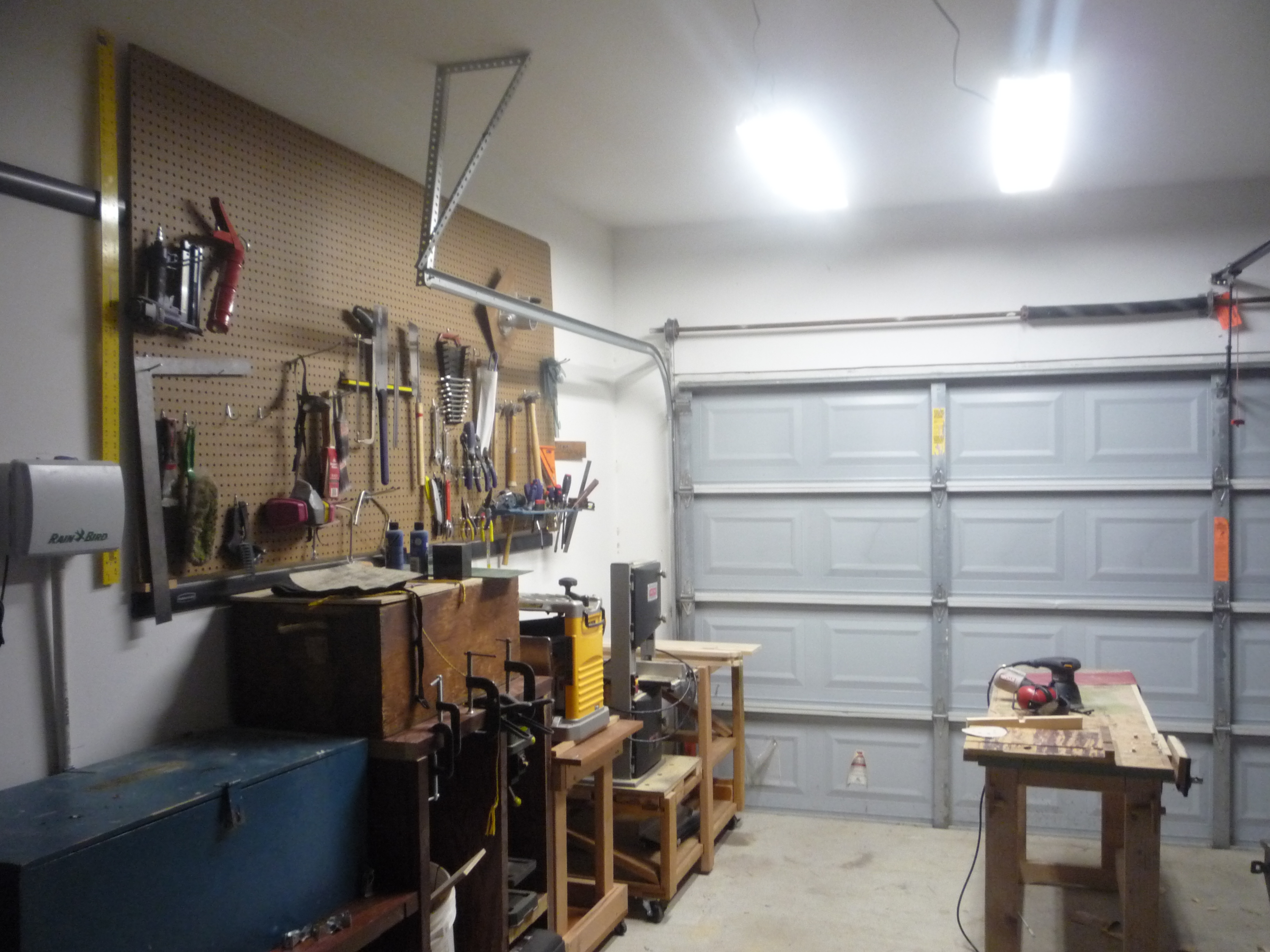 This Week In The Shop Plywood Storage Amp Lights Amp New Workbench Woodshopcowboy