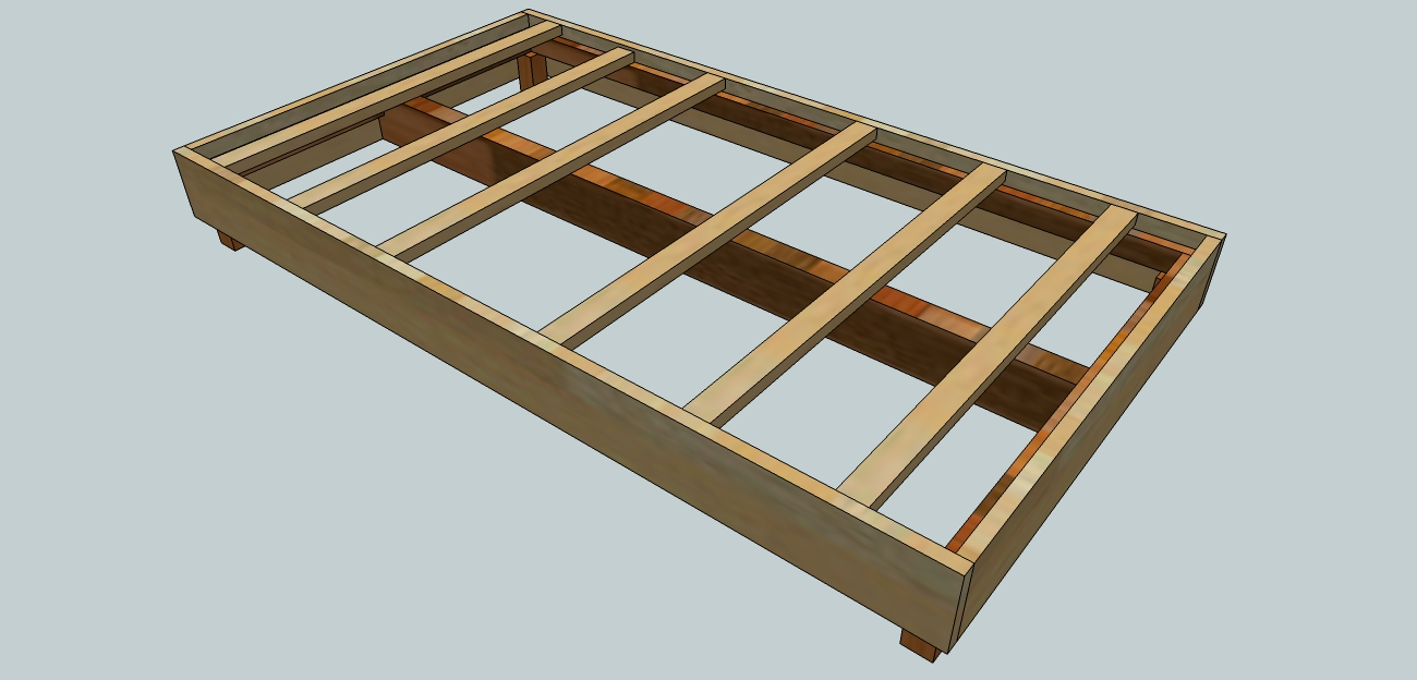 Woodworking project plans woodshopcowboy for Wood bed frame plans