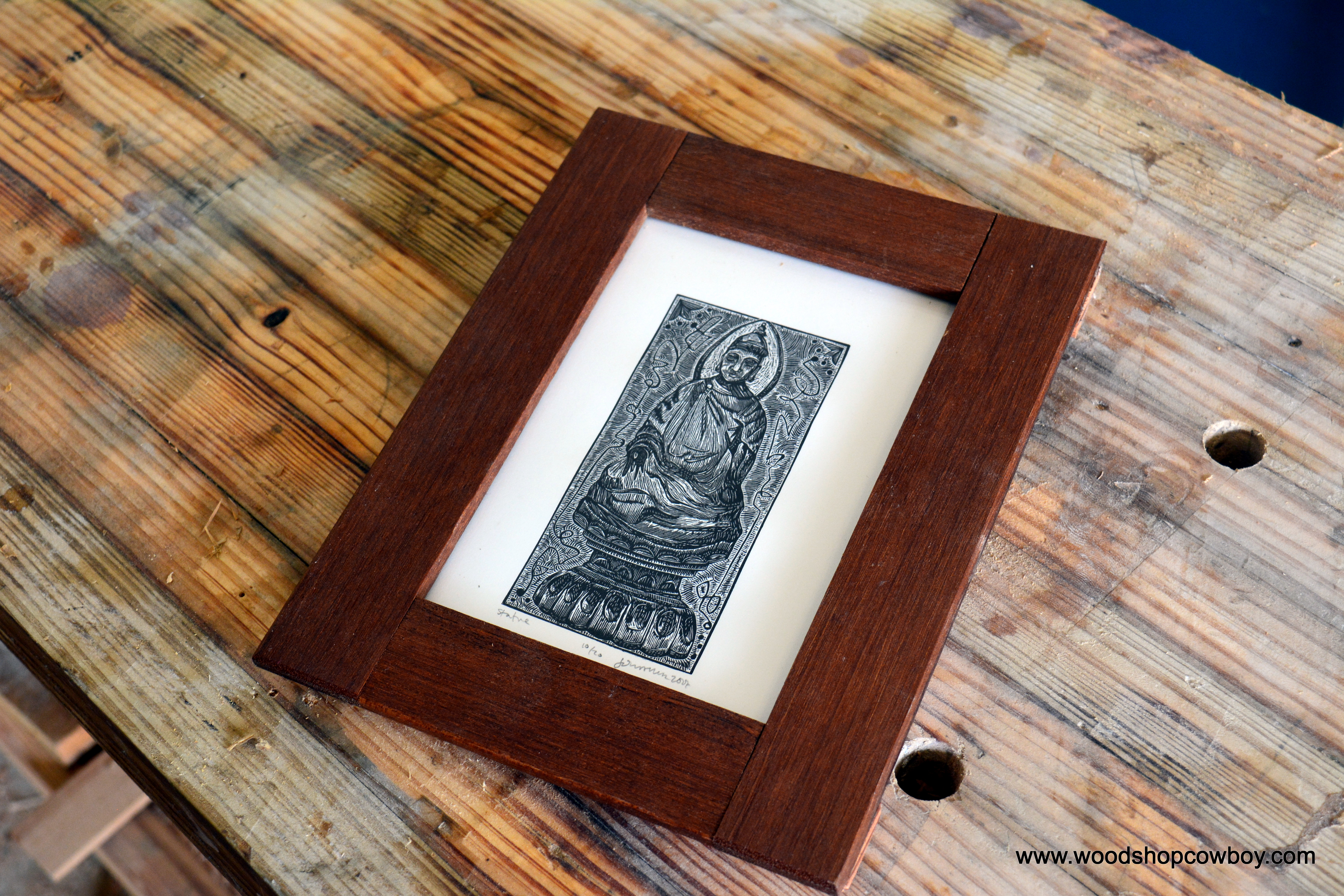This week in the shop 3 simple picture frame plans woodshopcowboy to make this simple frame jeuxipadfo Choice Image