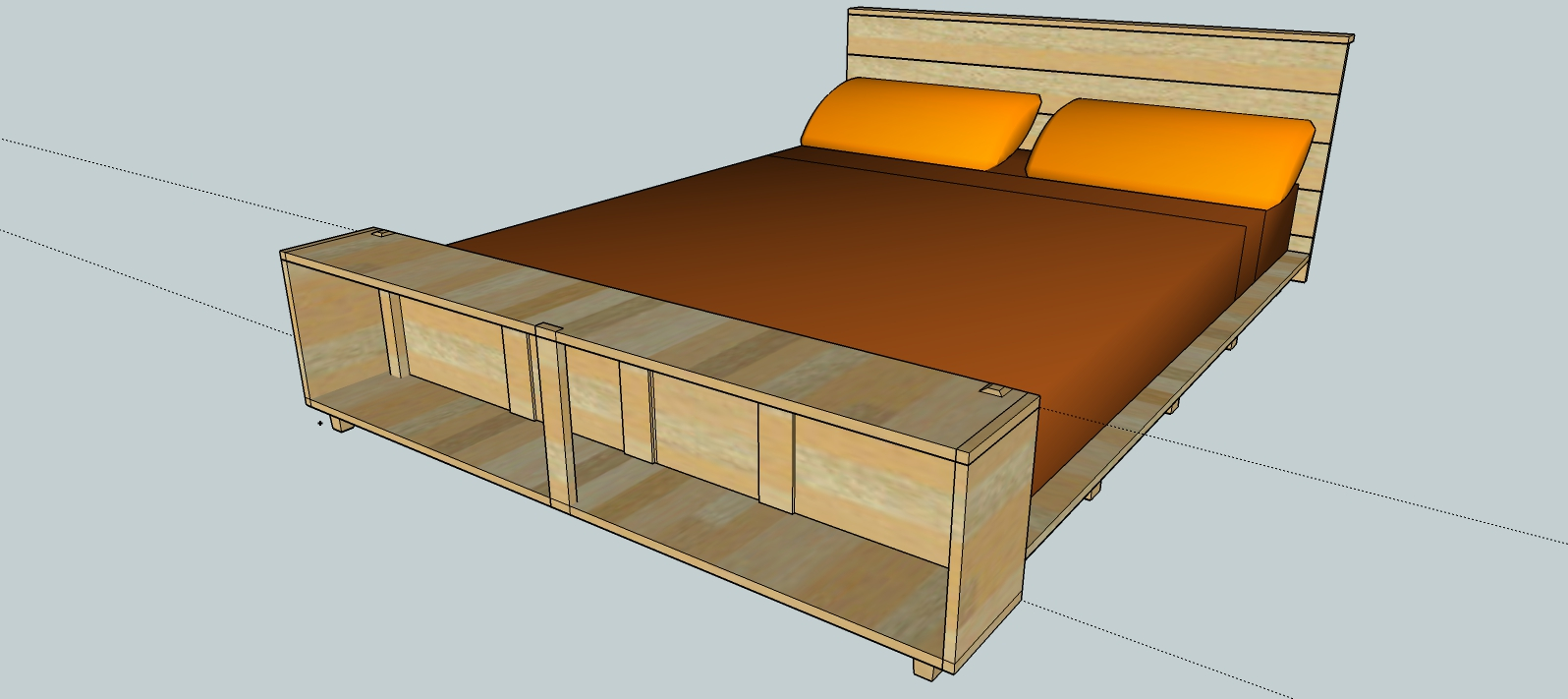 platform bed with drawers queen made with pocket hole