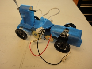 The second iteration of a motorized derby car.