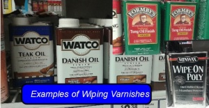 Wiping Varnishes