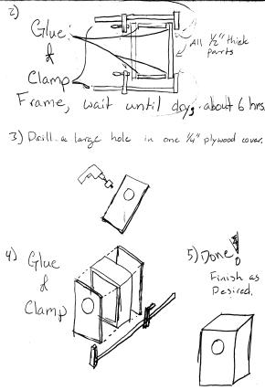 How to Make  a Cajon Drum P2