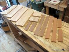 Parts of the bread box project laid out.