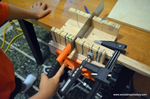 Miter Box Set Up in Use