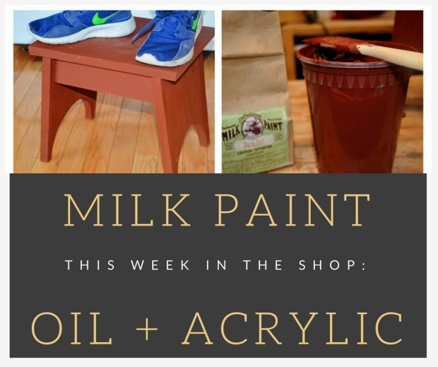 I Experimented With Milk Paint To Complete My Simple Stool And Bookshelf Projects Teach Both At NoVA Labs Each Class Covers A Different