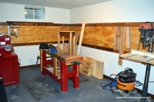The main woodworking bench