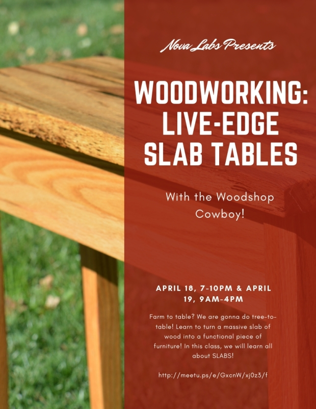 Wooworking Live-Edge Slap Tables